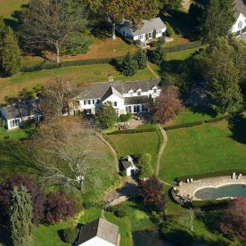 Aerial drone picture of our West Chester, PA B&B and the surrounding grounds