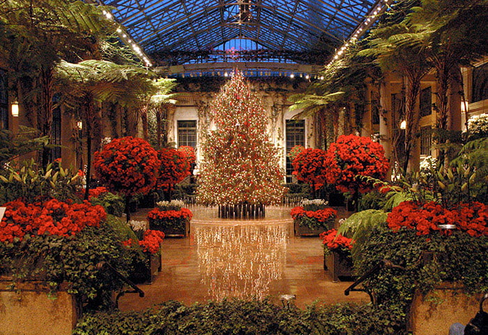 Lavish Christmas display at Longwood Gardens