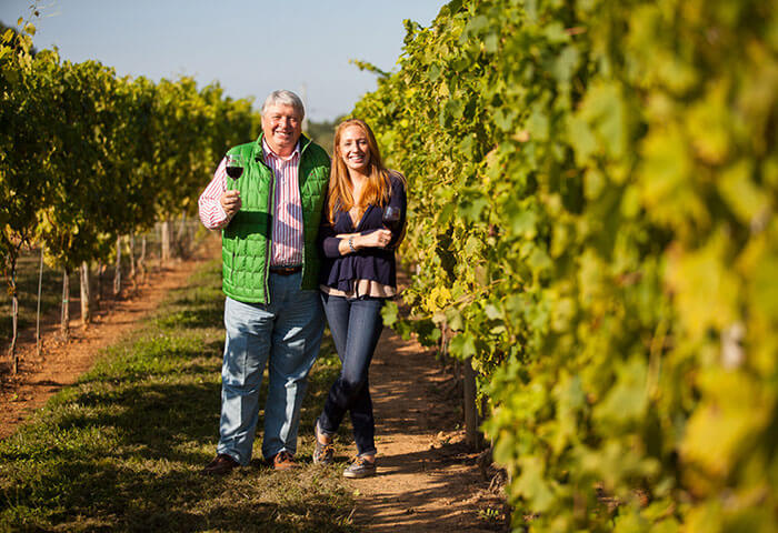 Owner of the Penn Woods winery with his daughter