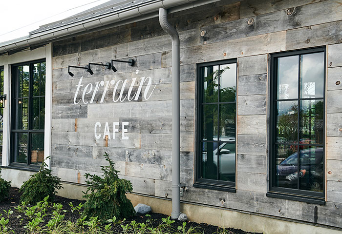 Exterior of the Terrain Cafe