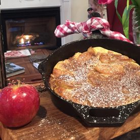Baked apple breakfast dish