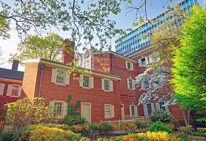 Pemberton House on Chestnut Street in Philadelphia