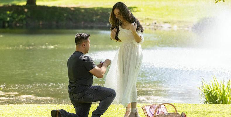Romantic Pennsylvania Proposal near Longwood Gardens