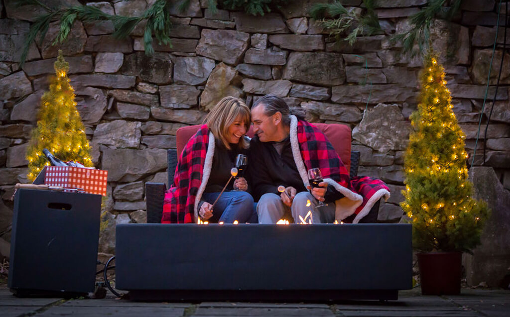 cozy fire pit at our brandywine valley inn