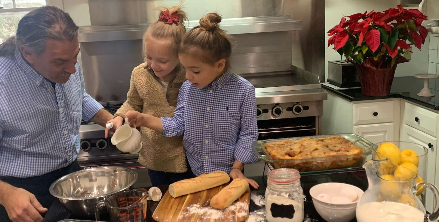 Making French Toast Souffle Recipe at our Pennsylvania B&B